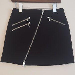 H&M asymmetrical zip mini skirt